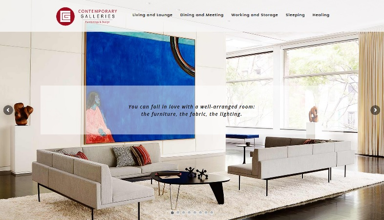 Contemporary Galleries Website Design Charleston WV